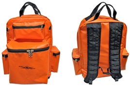 Heavy Duty Orange vinyl Lineman's Backpack