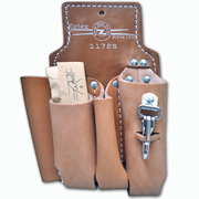 Lineman's Leather Tool Pouch, 4-Pocket