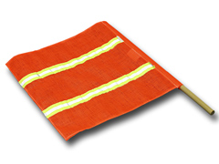 Mesh / Reflective Tape Safety Flag & Dowel