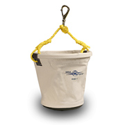 "Tapered Tool Bucket, 12"" x 8"" x 12"" Plastic Bottom W/Snap"