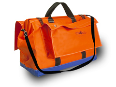"Tool Bag 24"" Orange Vinyl Coated Nylon w/2 Lrge O/S Pkts"