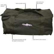 "Gear Bag - Nylon Cordura 26"" x 12"" x 14"""