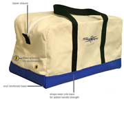 Canvas Utility Bag w/Vinyl Bottom - Blue